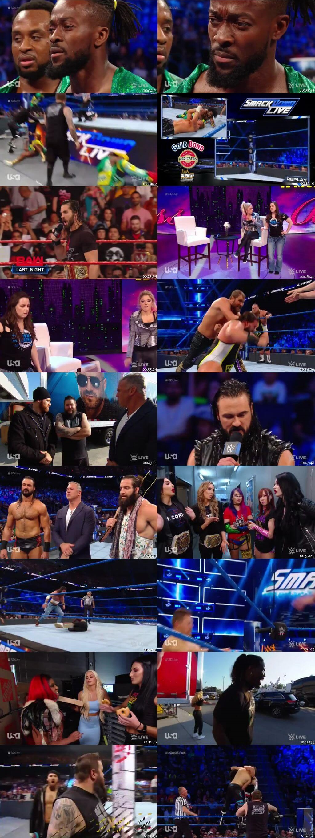 Screen Shot Of WWE SmackDown Live 18th June 2019 HDTV 480P 300MB