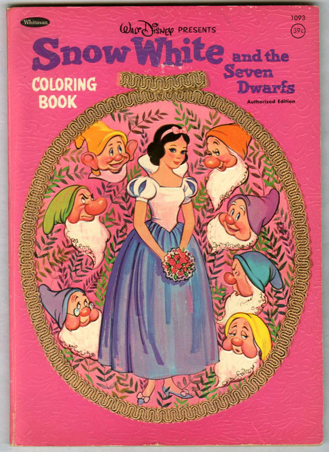 Filmic Light - Snow White Archive: 1952 Snow White Coloring Book ...