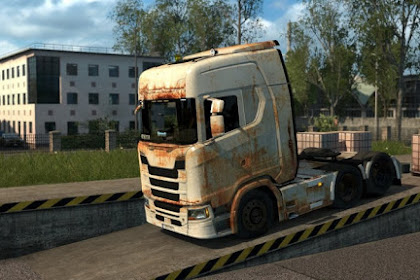 Rusty Scania Skin for all cabin variants and 8×4