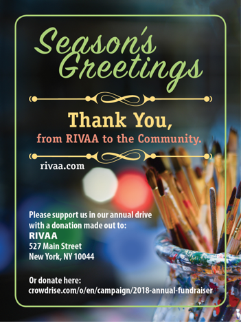 Seasons Greeting From Gallery RIVAA, Thanks For ALL Your Support This Past Year