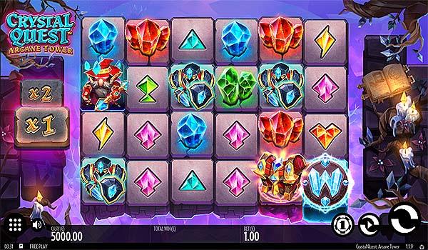 Main Slot Gratis Indonesia - Crystal Quest Arcane Tower (Thunderkick)