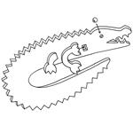 Crocodile Wrestler - Step 4