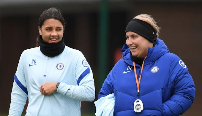 Chelsea Women manager Emma Hayes and Blues striker Sam Kerr have been nominated for December award