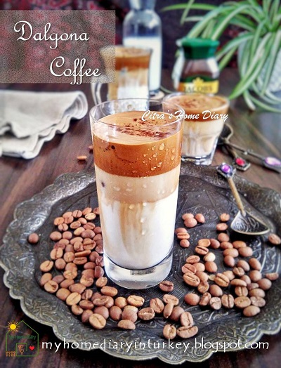 Viral Recipe: Dalgona Coffee ( Korean style Whipped coffee drink) | Çitra's Home Diary. #dalgonacoffee #colddrinkrecipe #coldbeveranges #whippedcoffeelatte