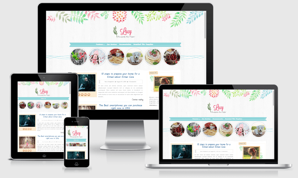 Lucy Beauty - Responsive Multipurpose Blogger Template