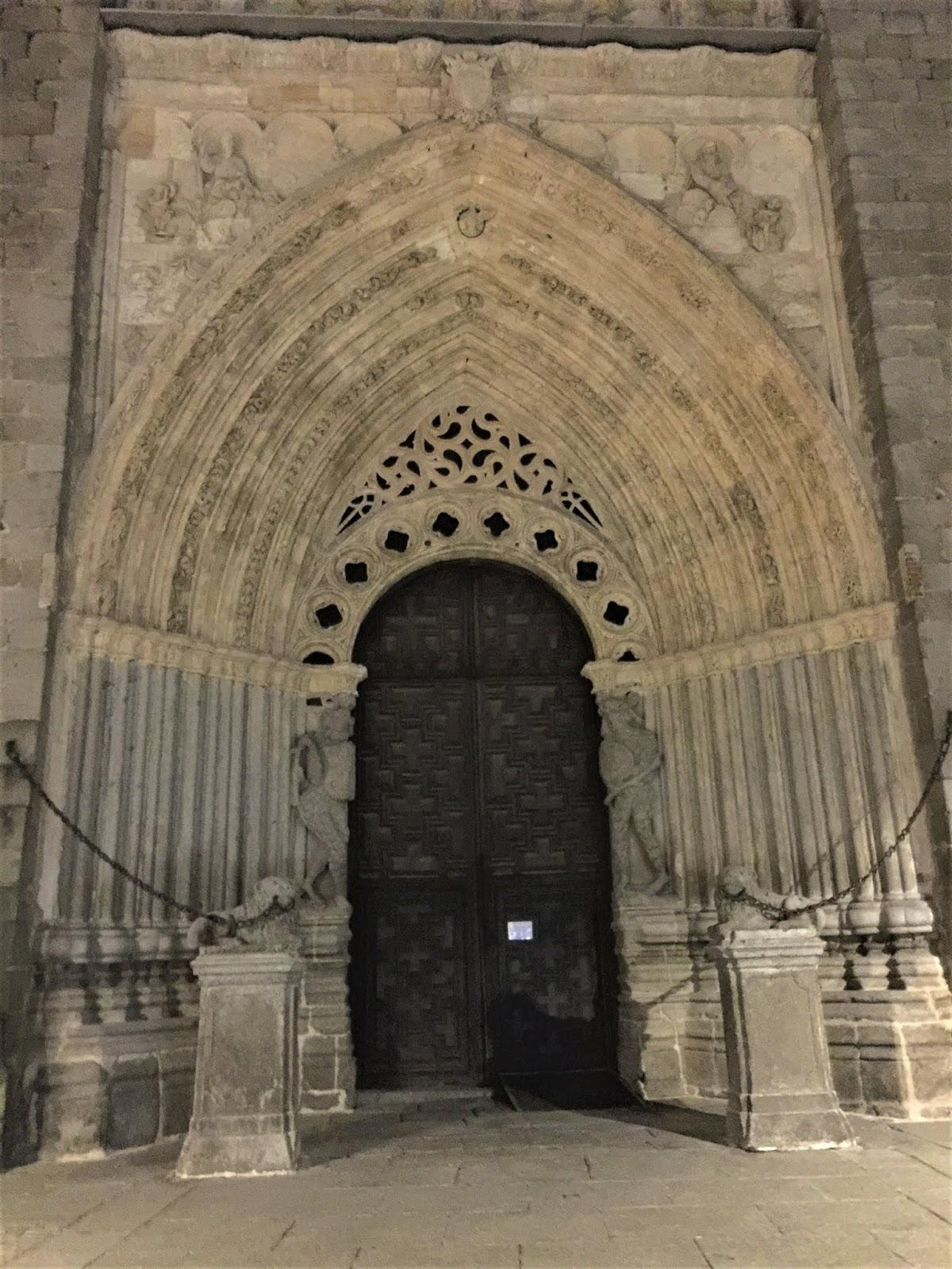 Strombatura gotica nel portale deella Cattedrale