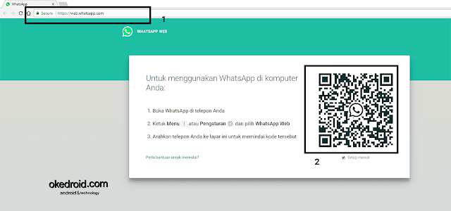 Halaman WhatsApp Web di Browser Chrome