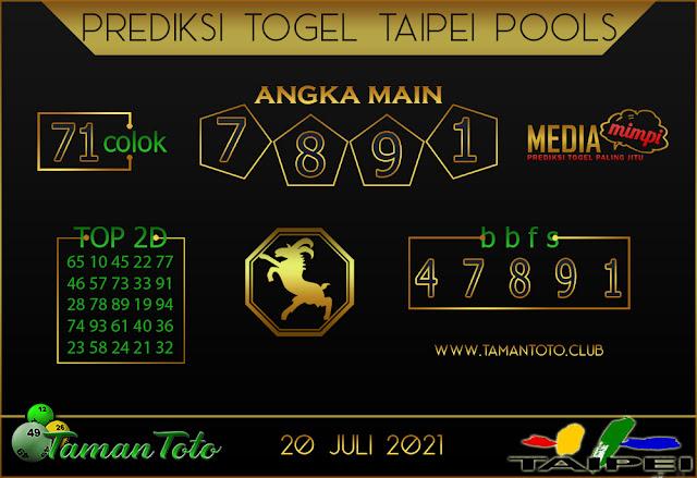 Prediksi Togel TAIPEI TAMAN TOTO 20 JULI 2021