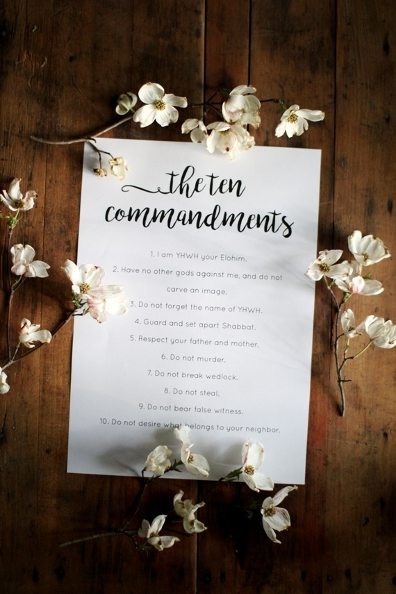 Free printable of the Ten Commandments | Land of Honey
