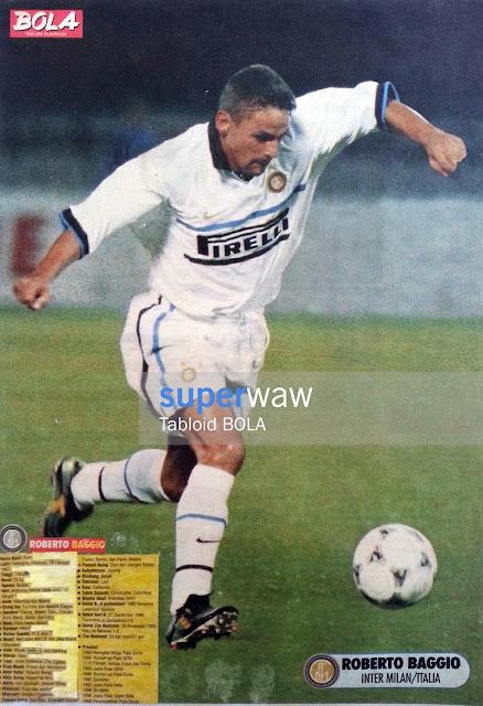 Poster Roberto Baggio Inter Milan 1998