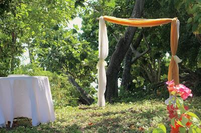 Salle de mariage Tobago Garden avec arche