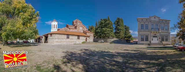 Панорама - Црква Пресвета Богородица Привлептос (Св. Климент) - Охрид, Македонија