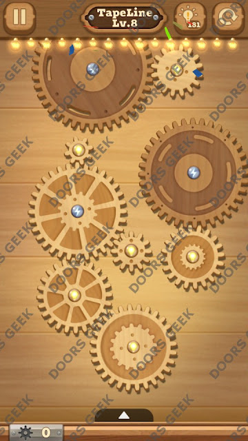 Fix it: Gear Puzzle [TapeLine] Level 8 Solution, Cheats, Walkthrough for Android, iPhone, iPad and iPod
