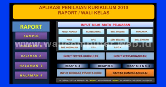 Aplikasi Raport Kurikulum K13 Untuk Smp Mts Revisi 2018 Tahun Ajaran 2019 2020 Wali Computer