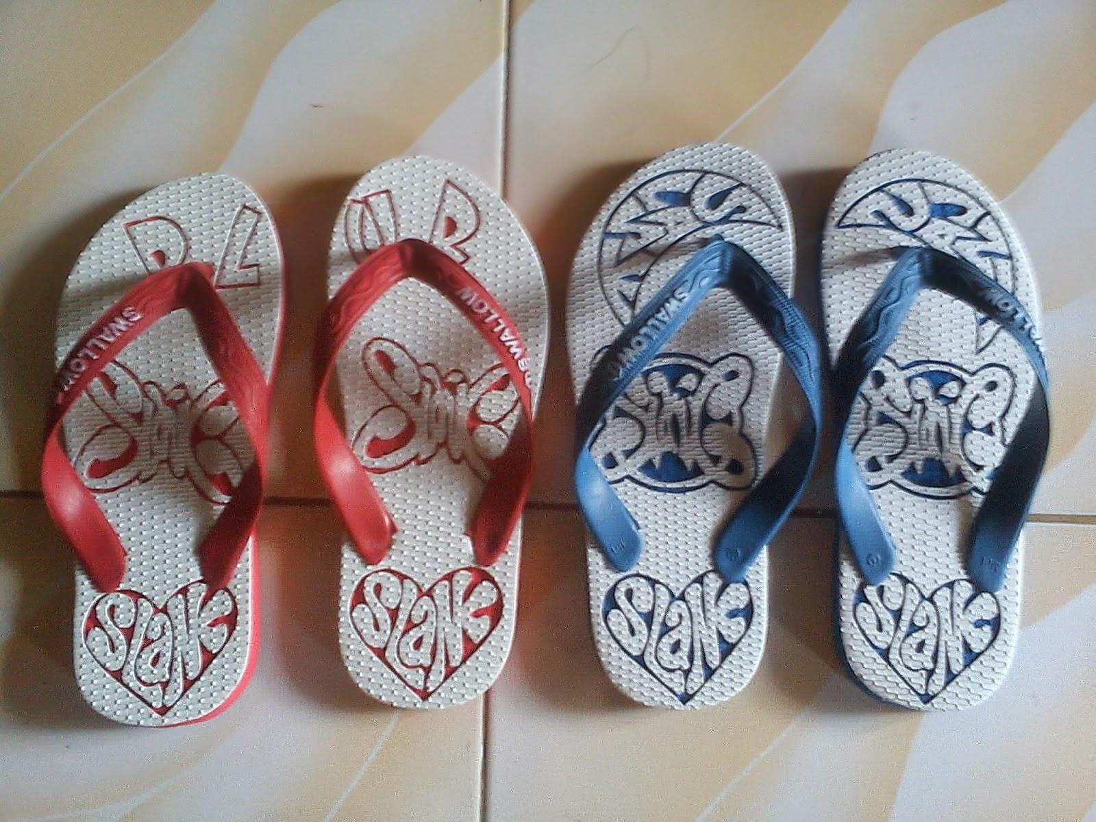 gambar sandal jepit ukir