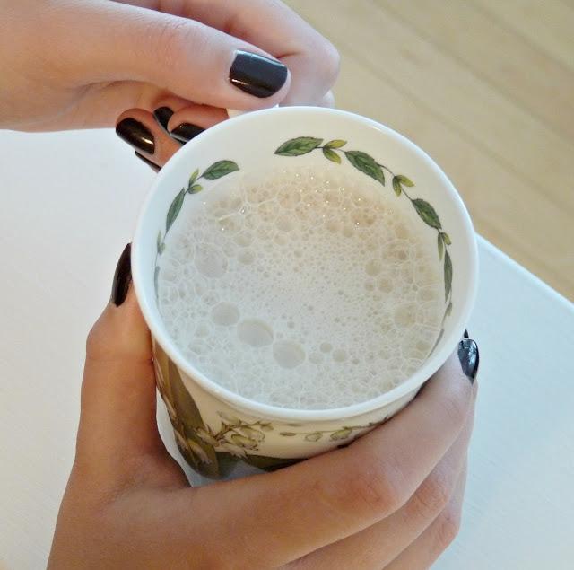 Tasty homemade london fog latte