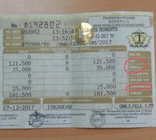 tarif pajak kendaraan