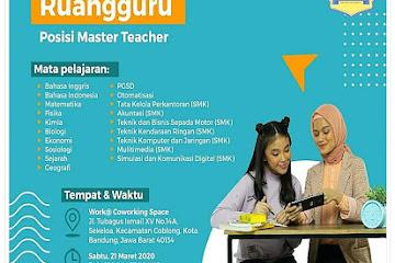 Lowongan Kerja Bandung Master Teacher Ruang Guru