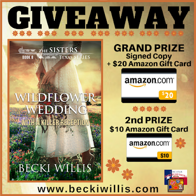 The Sisters Texas Series giveaway graphic