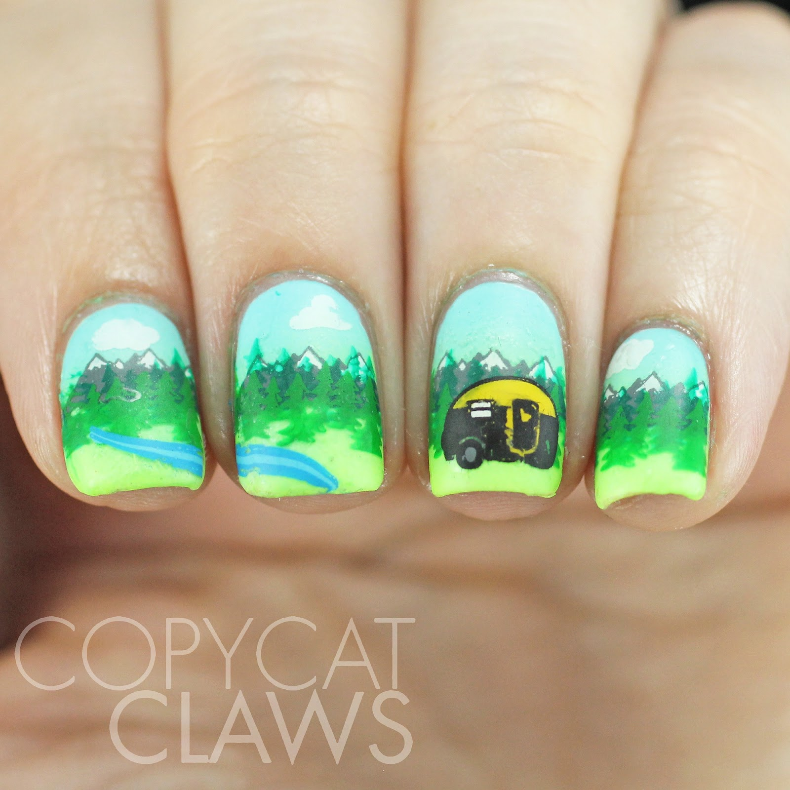 Copycat Claws: Camping Stamping Nails