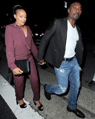 Actor Morris Chestnut steps out with his wife of 22 years ...