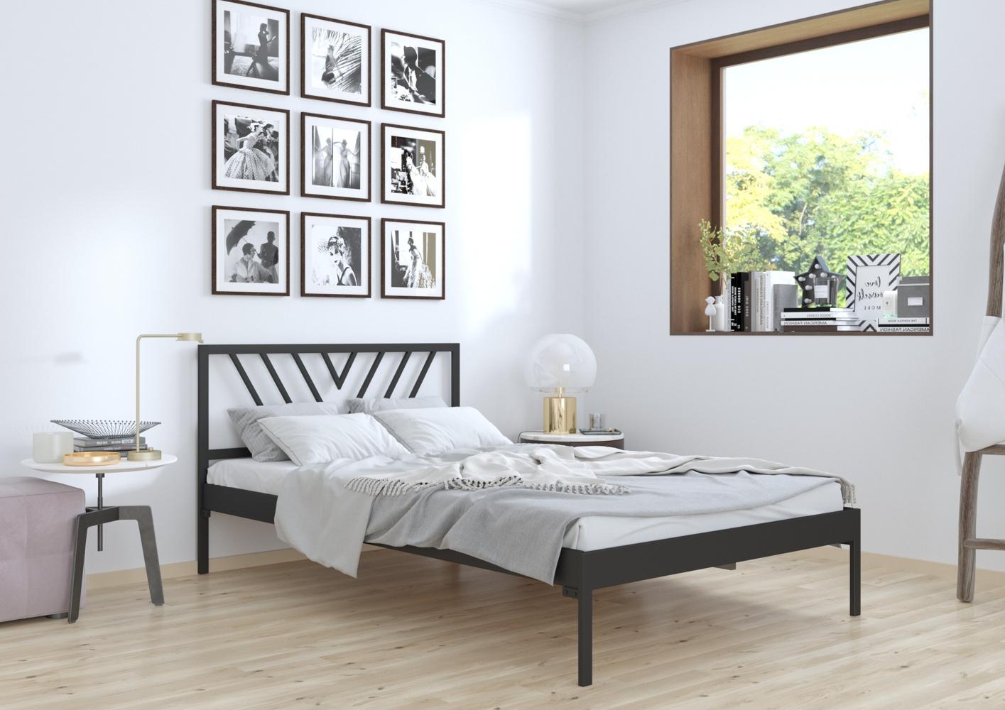 Łóżko metalowe wzór 5 na szerokość 140-160 cm