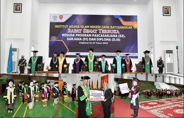 Rektor IAIN Batusangkar Kembali Mewisuda, 518 wisudawan Secara Virtual
