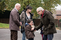 Dave Johns, Hayley Squires, Ken Loach and Dylan McKiernan in I, Daniel Blake (6)