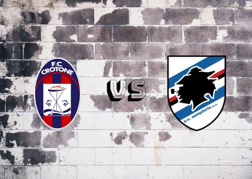 Crotone vs Sampdoria  Resumen