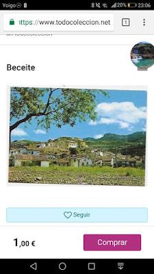 Postal, Beceite, Beseit, Desde la era donde está la oficina de turismo
