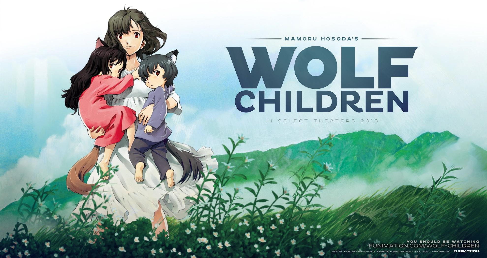 Poster Anime Wolf Children