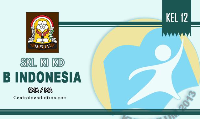 SKL, KI, & KD Bahasa Indonesia Kelas XII SMA Revisi 2021/2022 Lengkap