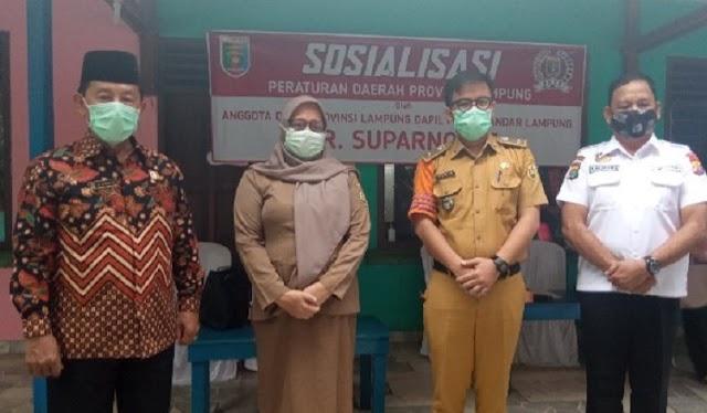 Anggota DPRD Lampung AR Suparno Minta Masyarakat Patuhi Perda Adapatasi Kebiasaan Baru