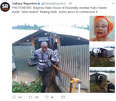"""Wonders! See the """"Ultra modern"""" toilet House of Assembly member allegedly built for her community (Photos)"""