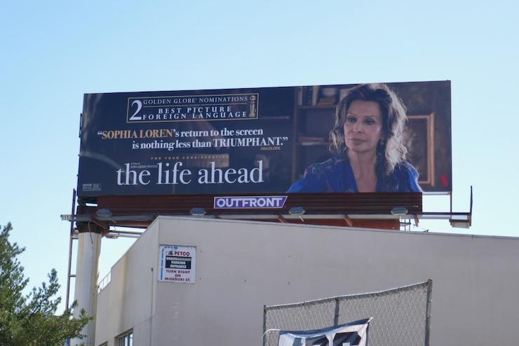 Life Ahead Golden Globe nominee billboard