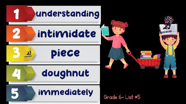 grade 6 spelling list 5
