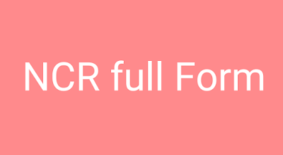 NCR full form