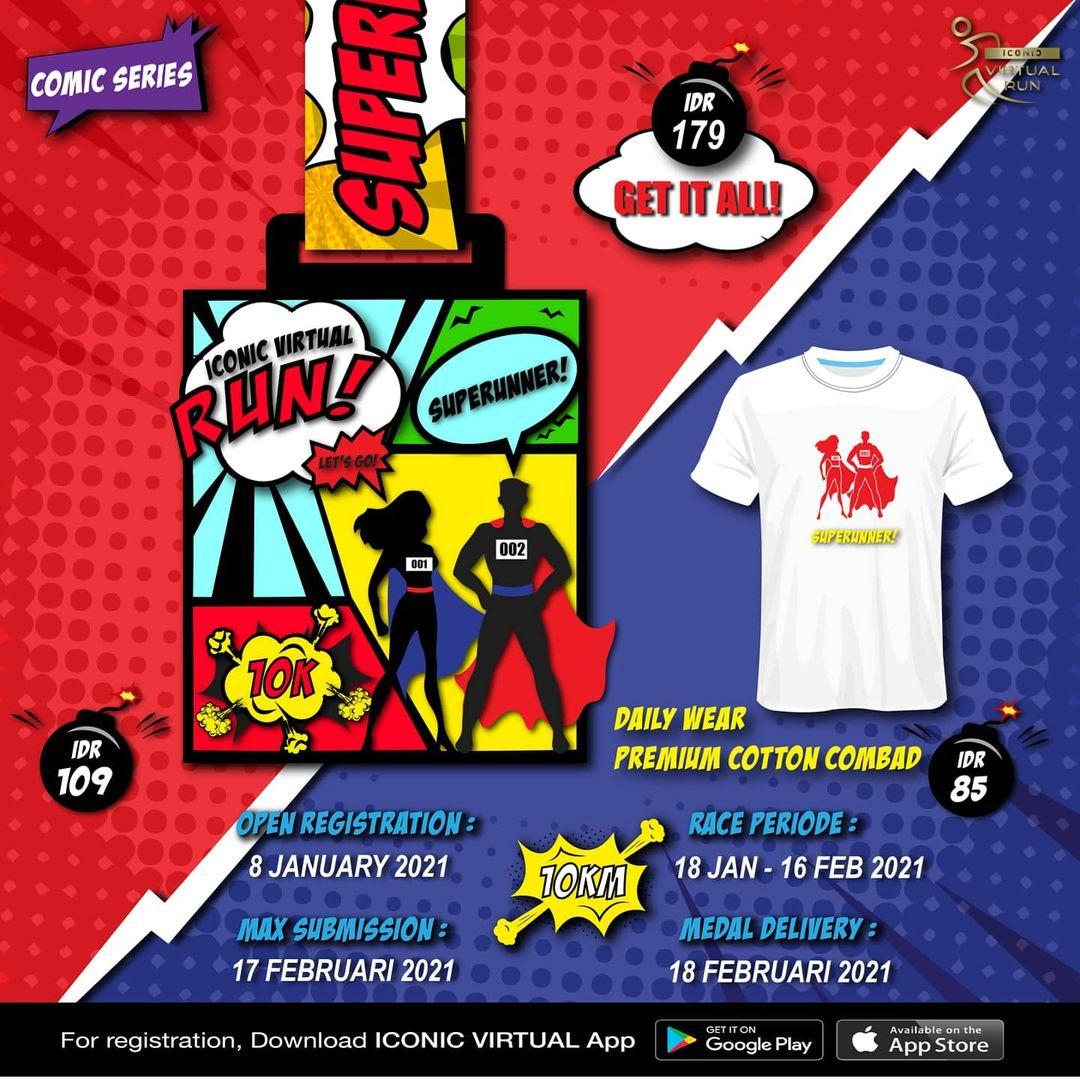Iconic Virtual Run ∙ Comic Series • 2020