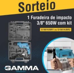 Promoção Gamma Ferramentas 2018 Concorra Furadeira de Impacto