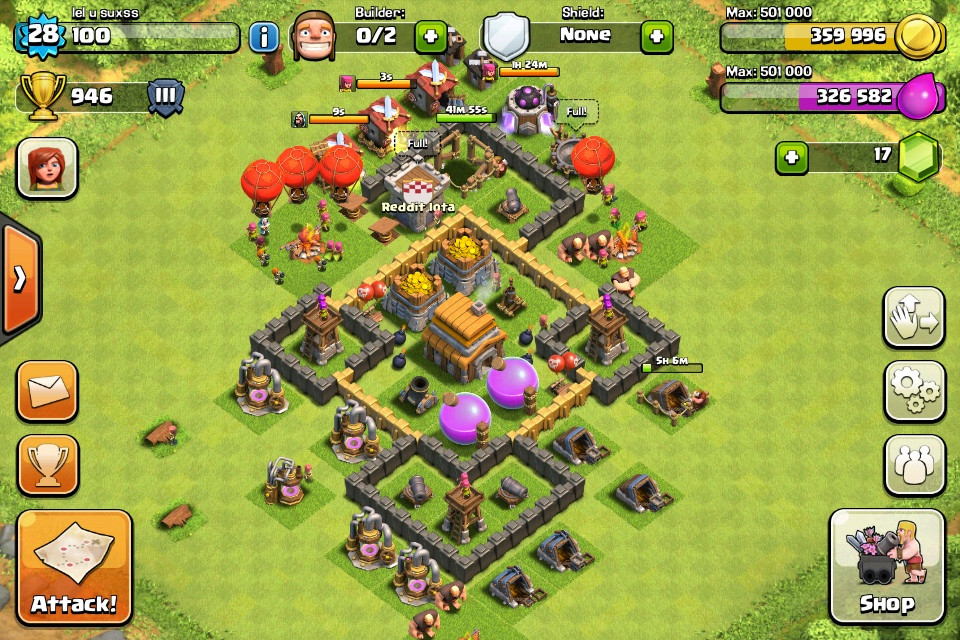 Base Coc Th 5 Anti Rata 4