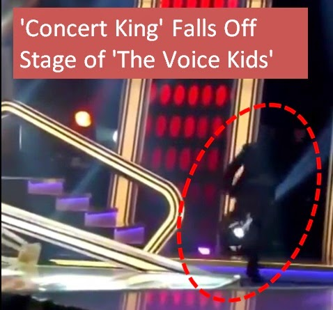 Martin Nievera falls off stage after duet with Darren on 'The Voice Kids'