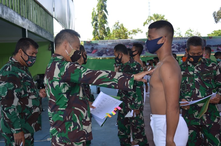 Kegiatan Seleksi Penerimaan Calon Tamtama Secata PK TNI AD Gel. II  Ta. 2020, Sub Panda Bone Korem 141/Tp
