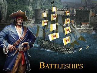 Torne-se um pirata ousado, espreite os mares em um navio de guerra armado até os dentes