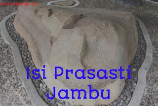 Isi Prasasti Jambu, Prasasti Jambu berisi tentang, prasasti jambu