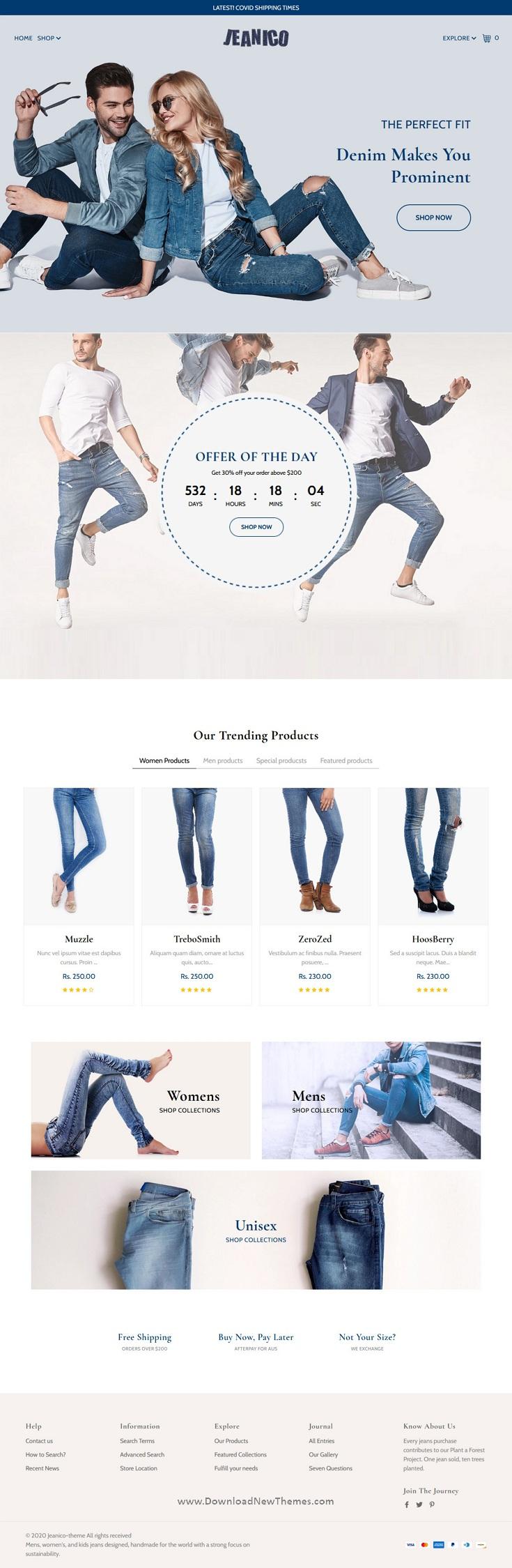Jeans Store Shopify Theme