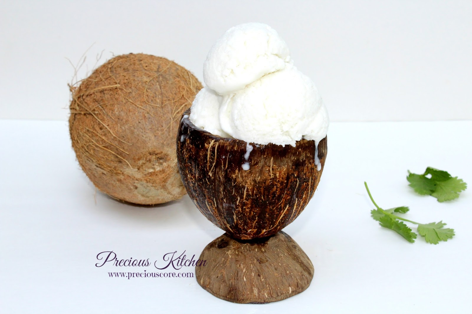 4-INGREDIENT COCONUT ICE CREAM