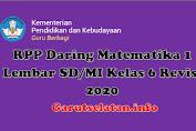 RPP Daring Matematika 1 Lembar SD/MI Kelas 6 Revisi 2020