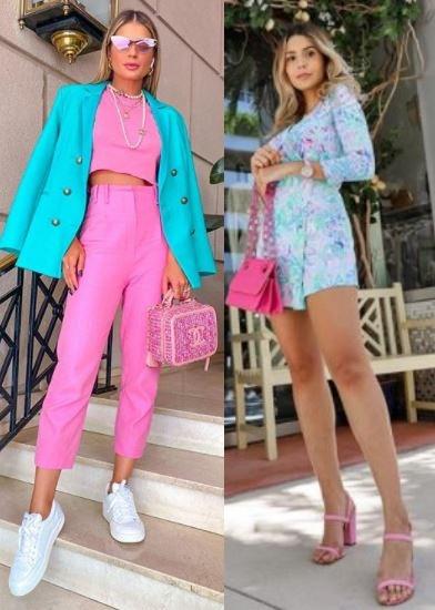5 Tendências de moda para apostar, looks coloridos, Thássia Naves, Vanessa Tilley