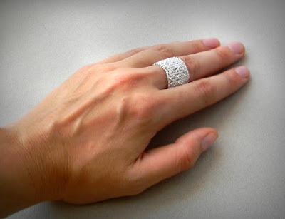 купить кольцо из бисера широкое белое кольцо ру почтой интернет магазин