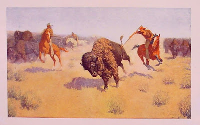 remington cowboy illustration